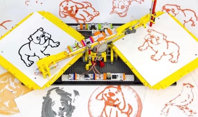 レゴブロックとlittleBitsで作るおもちゃのコピー機