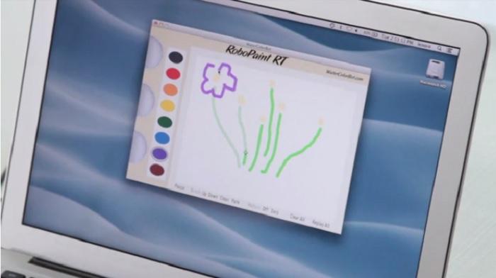 アプリから水彩画が描けるプリンターwater color bot