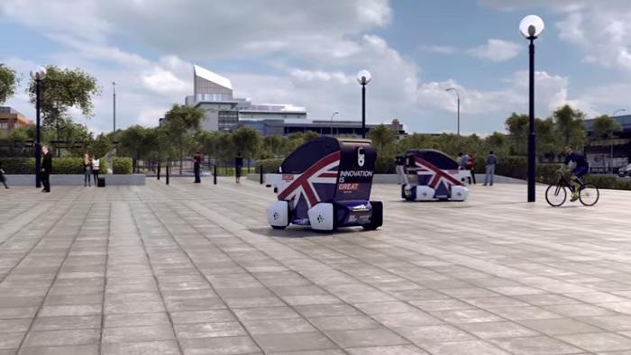 無人自動車 イギリス 歩道専用