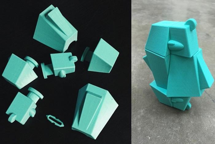 クマの3Dプリントパズル