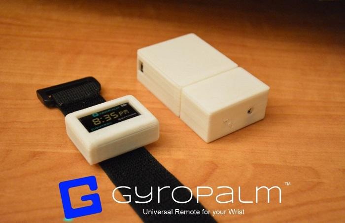 ジェスチャーコントロール オープンソース スマートウォッチ Gyropalm