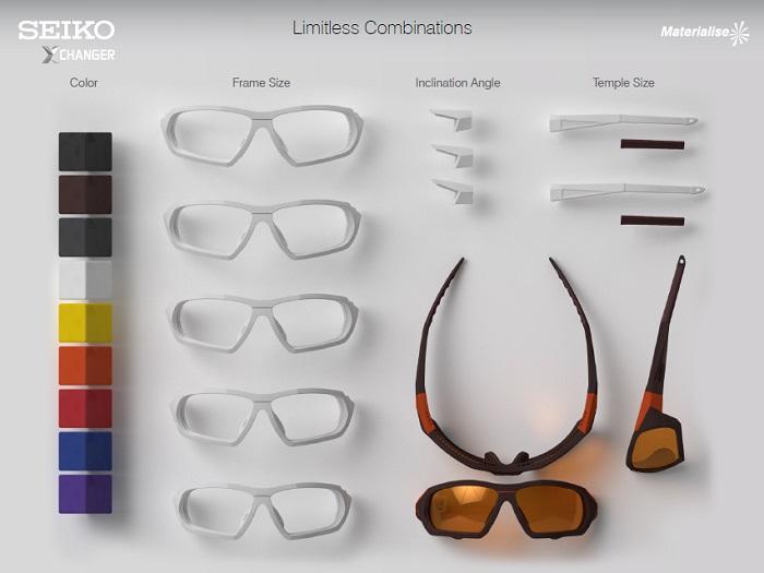SEIKO Xchanger マテリアライズ 3Dプリント スポーツアイウェア