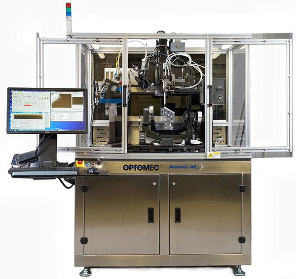 電子部品 電子機器 3Dプリンター 5軸 エアゾールジェット技術