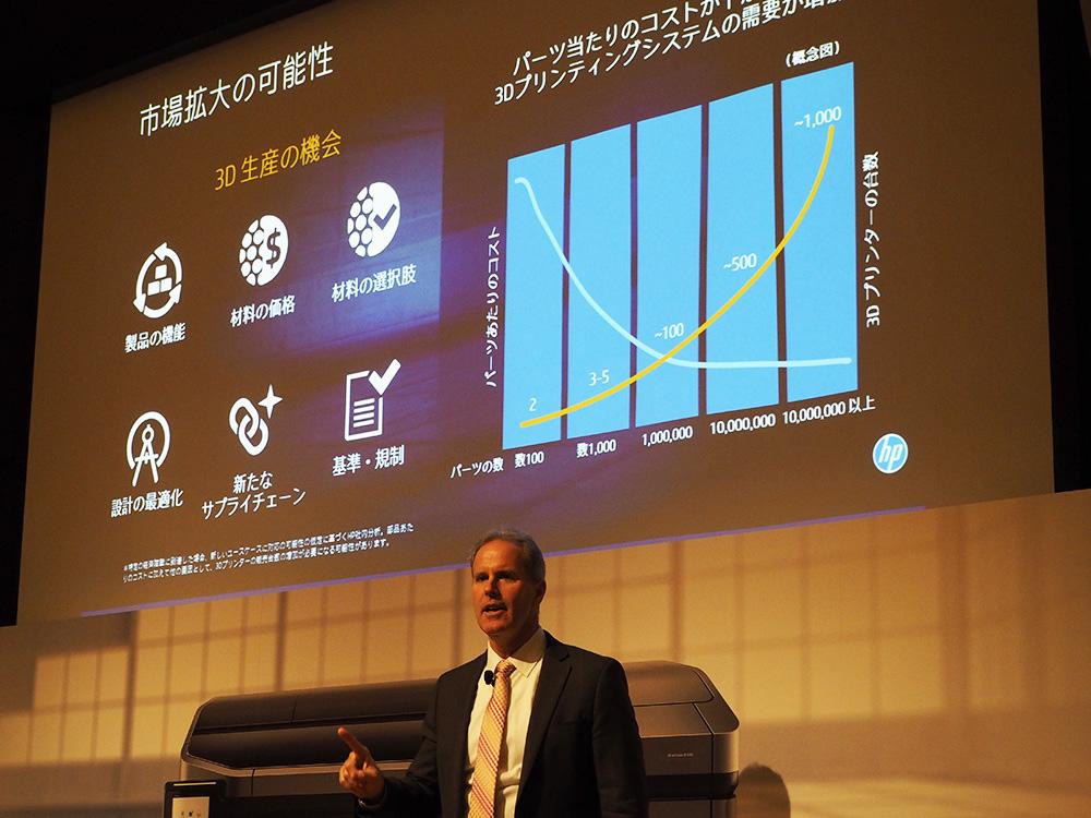 HP 3Dプリンタ 記者発表